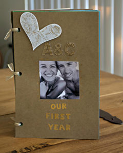 My finished one year anniversary book.