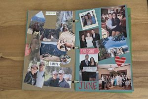 Pages from my DIY One-Year anniversary book