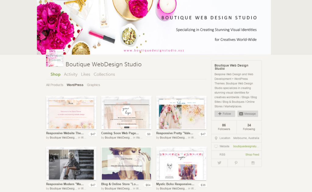 boutique web design