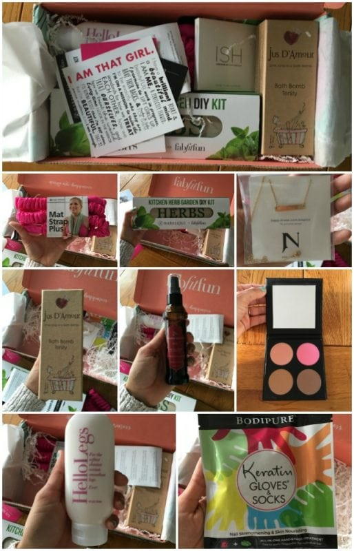 fabfitfun box collage