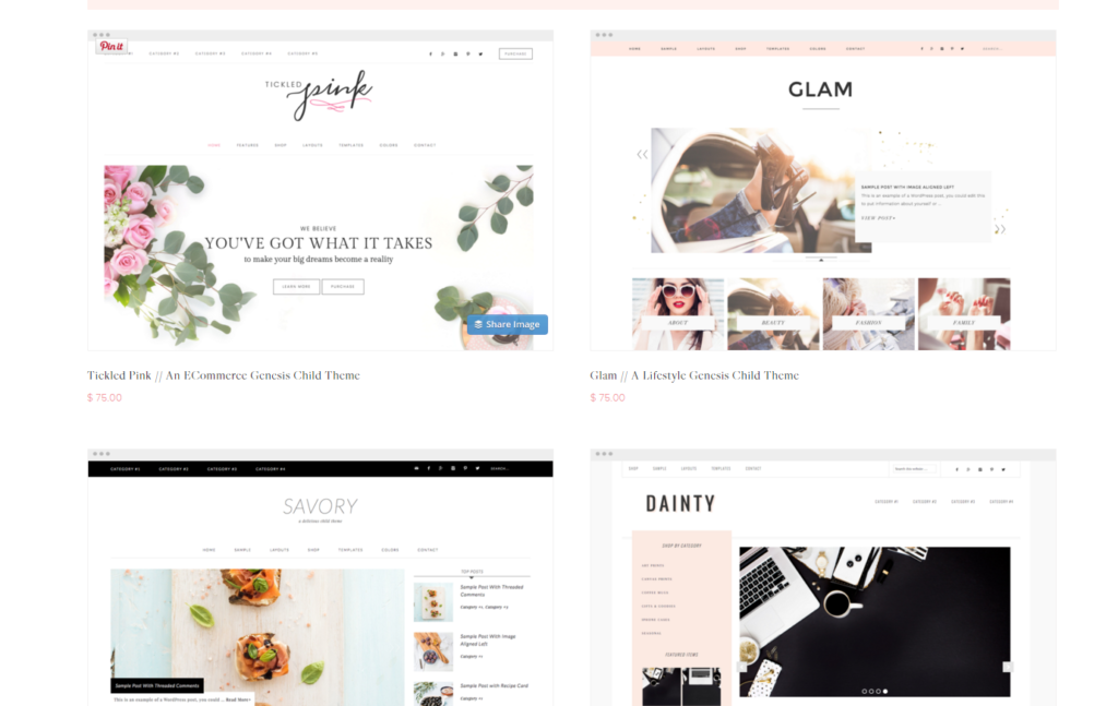 Restored 316 Feminine Themes for WordPress