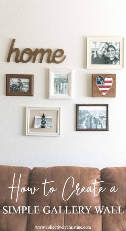 Easy tutorial to create a simple gallery wall.