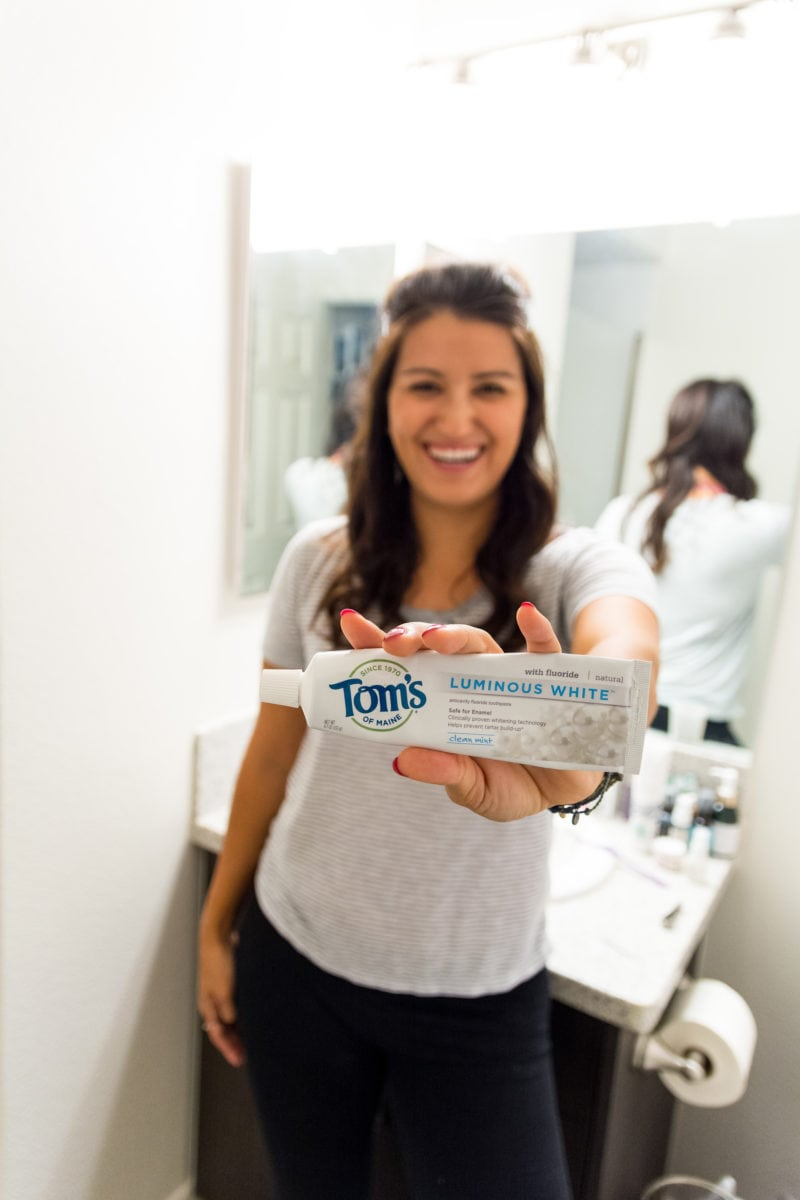 my evening routine with tom's of maine