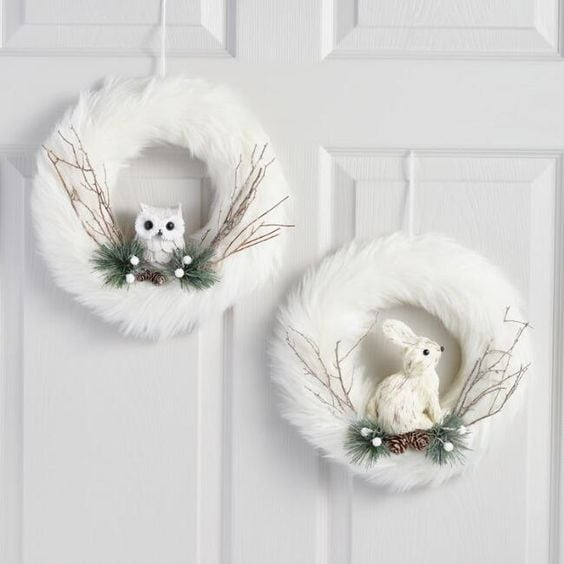 Snowy Owl Christmas Wreath DIY