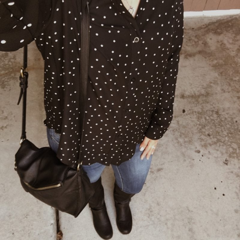 Black Polka Dot Outfit
