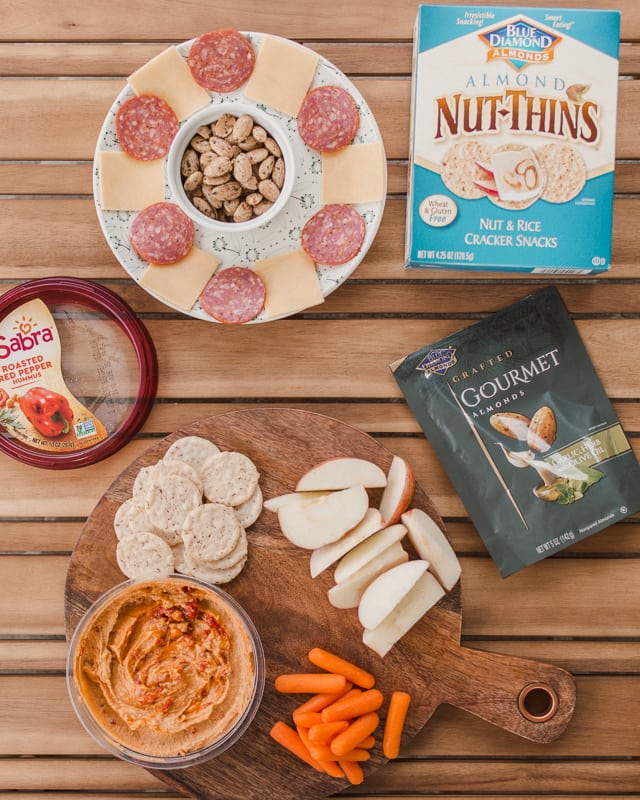 Backyard Date Night Idea #upgradyoursummer with Blue Diamond and Sabra for Walmart.