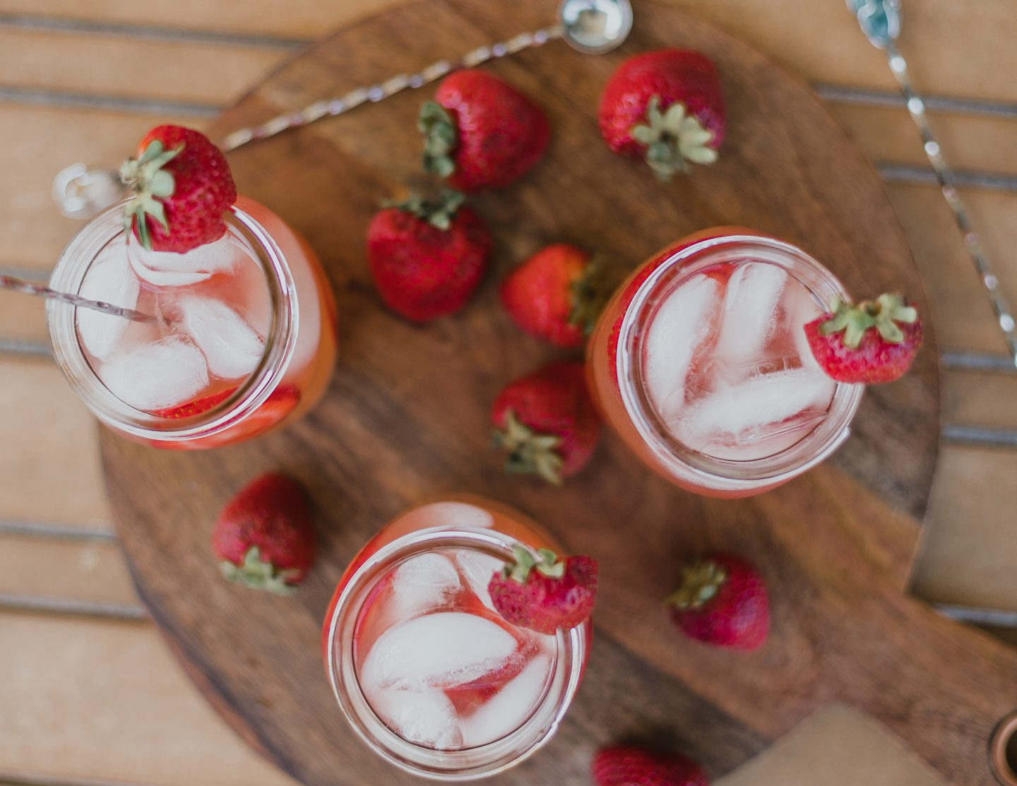 Simple Strawberry Lemonade Cocktail